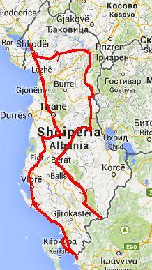 Route Albanien