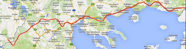 Route-Griechenland