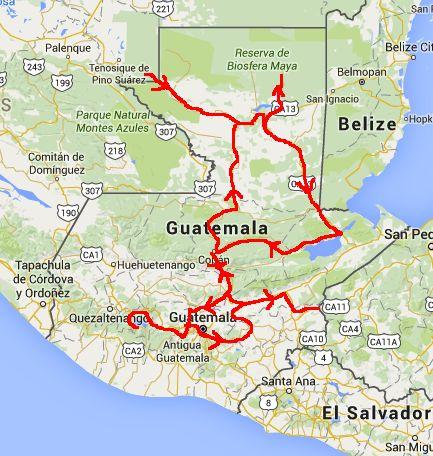 Route Guatemala
