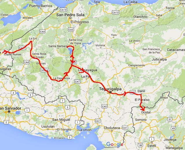 Route Honduras