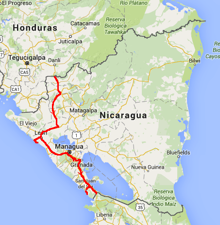 Route Nicaragua