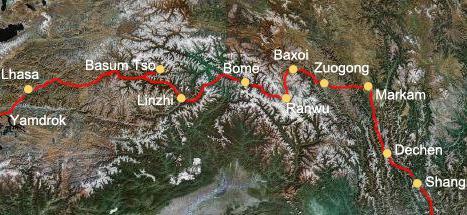 Karte-Tibet