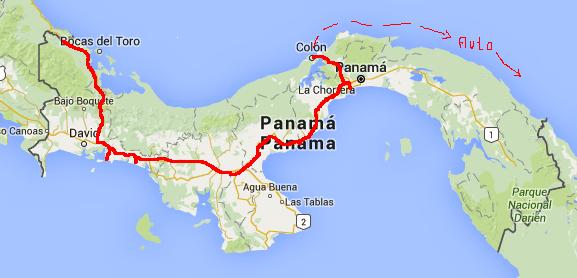 Route-Panama